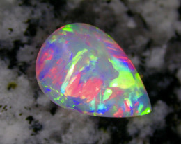2.28ct BEST OF THE BEST BRILLIANT RAINBOW COLORS 2-SIDED CRYSTAL OPAL