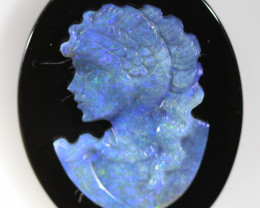 16.809 CTS CAMEO CARVING WITH OPAL -HAND CARVED [SEDA2537 ]