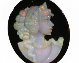 12.65 CTS CAMEO CARVING WITH OPAL -HAND CARVED [SEDA2538  ]