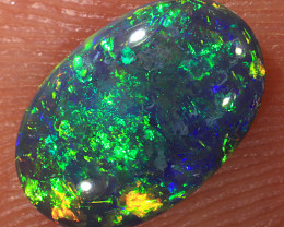 0.85ct 9x6mm Solid Lightning Ridge Dark Opal [LO-1681]