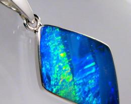 Opal Pendant Genuine Rare Natural Australian Silver Jewelry 5.65ct Necklace