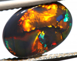 1.60 CTS  L.RIDGE BLACK OPAL  POLISHED STONE TBO-8565