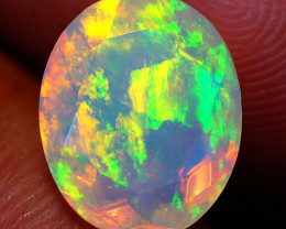 1.98 CT 11X9 MM Broad Patchwork!! Welo  Ethiopian Faceted Opal-EF18