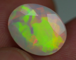 3.65 CRT BEAUTY FACETED ROLLING FLASH PATTERN PLAY COLOR WELO OPAL
