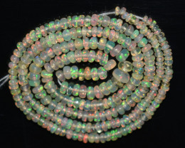 20.80 Ct Natural Ethiopian Welo Opal Beads Play Of Color