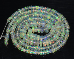 32.15 Ct Natural Ethiopian Welo Opal Beads Play Of Color