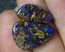 22,88 cts - Boulder opal wood fossil from Yowah - BT163