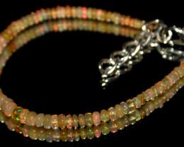 12 Crts Natural Ethiopian Welo Opal Beads Bracelet