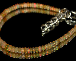 17 Crts Natural Ethiopian Welo Opal Beads Bracelet 598
