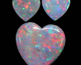 1.55 CTS HEART SHAPE CALIBRATED CRYSTAL FROM COOBER PEDY [SEDA2547]