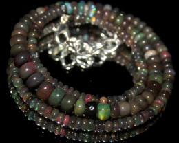 43 Crts Natural Ethiopian Welo Smoked Opal Beads Necklace 4