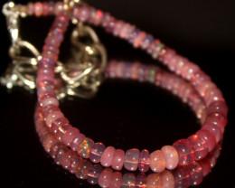 14 Crts Natural Welo Smoked Opal Beads Bracelet 645