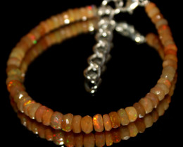 21 Crts Natural Ethiopian Welo Faceted Opal Beads Bracelet 1