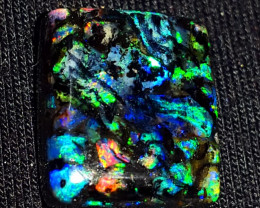 11.00 CRT RARE! UNIQUE GALAXY RIBBON PLAY COLOR INDONESIAN OPAL WOOD FOSSIL