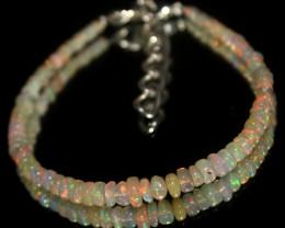 15 Crts Natural Ethiopian Welo Opal Beads Bracelet 614