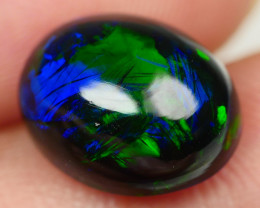3.50 CRT BEAUTY SMOKED BROAD STRIPE FLOWER PLAY COLOR WELO OPAL-