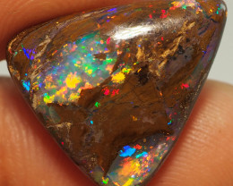 11.65CT GEM MATRIX WOOD YOWAH OPAL AMAZING PATTERN NN464