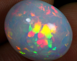 -25% Black Friday- 10.50cts Rainbow Floral Pattern Natural Eth. Welo Opal