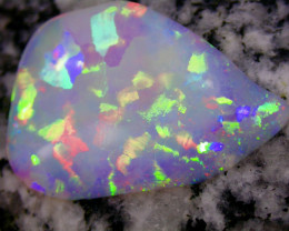 8.48ct EXTREEM BRIGHT 2-SIDED FLAGSTONE PATERN CRYSTAL OPAL
