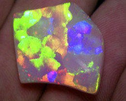 22.82ct BRILLIANT COLORS block PUZLE PATERN BEST OF THE BEST OPAL