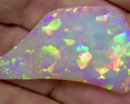 30.56ct DOUBLE SIDED MULTI PATERN EXR BRIGHT AND 3D RAINBOW COLORS OPAL