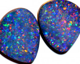16.45 CTS OPAL DOUBLET STONE PAIR TBO-9632