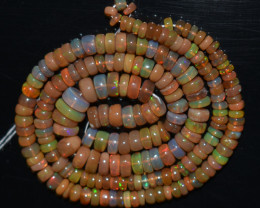 53.00 Ct Natural Ethiopian Welo Opal Beads Play Of Color