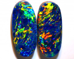 4.74 CTS QUALITY OPAL DOUBLET STONE PAIR  INV-1379