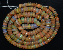 49.95 Ct Natural Ethiopian Welo Opal Beads Play Of Color