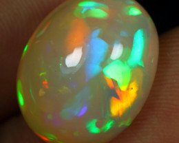 FREE SHIPPING 10.20cts 5/5 Neon Fire Aurora Pattern Natural Eth Welo Opal