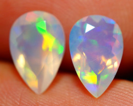 9X6 MM AAA QUALITY ETHIOPIAN FACETED OPAL PAIR -ECF634