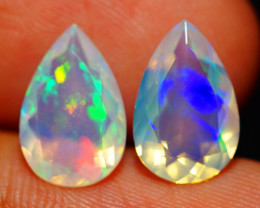 3.27CT 12X8MM AAA QUALITY ETHIOPIAN FACETED OPAL PAIR -ECF636