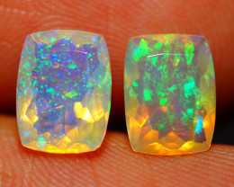 8X6 MM AAA QUALITY ETHIOPIAN FACETED OPAL PAIR -ECF639