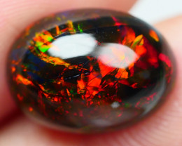 3.50 CRT ( CRACK ) GORGEOUS SMOKED BROAD STRIPE FLORAL FIRE WELO OPAL-