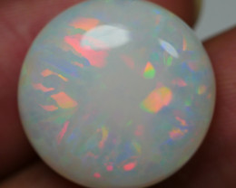 14.90 CRT BEAUTY RAINBOW ROUND FLORAL FIRE PLAY COLOR WELO OPAL-