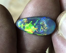 2.45ct solid Lightning Ridge black opal