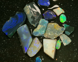 Rough Opal Lot 87.10 cts Black Opals Lightning Ridge BOPR230819