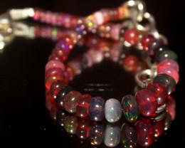 22 Crts Natural Welo Smoked Opal Beads Bracelet 634