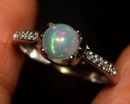 Natural Ethiopian Welo Opal 925 Silver Ring Size (6 US) 95