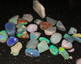Rough Opal Lot 72.30 cts Black Opals Lightning Ridge BORC260819
