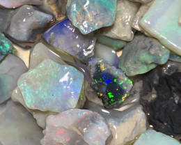 PLENTY OF COLOURS; 400 CTs of Beautiful Solid/Natural Lightning Ridge Opal,