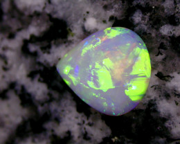 2.92ct BRILLIANT ROLLING FLASHFIRE  CRYSTAL TEARDROP OPAL