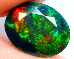 1.34cts AAAA Natural Ethiopian Faceted Smoked Opal FA150