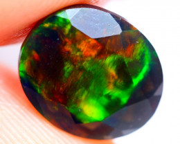 1.30cts AAAA Natural Ethiopian Faceted Smoked Opal FA152