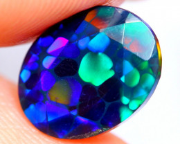 1.75cts AAAA Natural Ethiopian Faceted Smoked Opal FA160