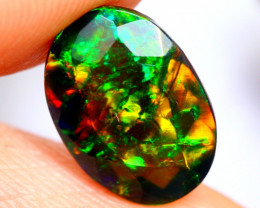 1.73cts AAAA Natural Ethiopian Faceted Smoked Opal FA181