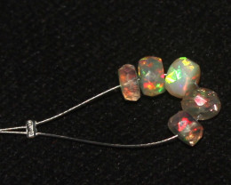 2.60 Crt Natural Ethiopian Welo Faceted Opal Demi Strand 26