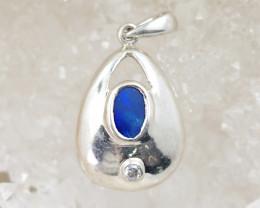 Blue hues Doublet Opal Pendant  OPJ 2286