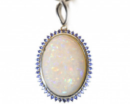COOBER PEDY OPAL 925 Silver Rhodium Plated Pendant[CP087]