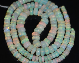52.70 Ct Natural Ethiopian Welo Opal Beads Play Of Color